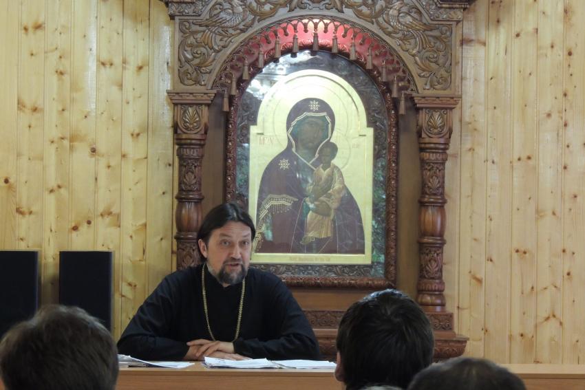 Протоиерей Максим Козлов прочел лекции курским семинаристам